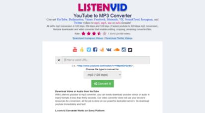 listenvid.com - youtube to mp3 converter - listenvid.com