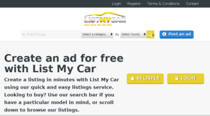 Welcome To Listmycar Co Uk List My Car Free Car Sales Service