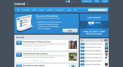 listoid.com - listoid - user-created lists of everything