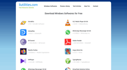 liutilities.com - liutilities - free windows resource libraries and tech articles