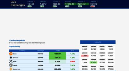 liveexchanges.com - exchange rate - 24-hour d currency rates.