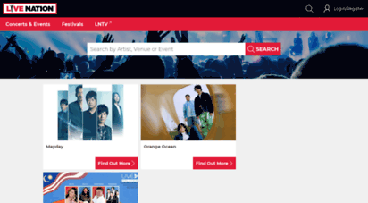 livenation.asia - concert tickets and tour dates  live nation asia