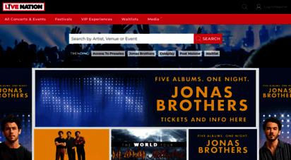 livenation.com.au - concert tickets and tour dates  live nation australia and new zealand