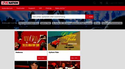 livenation.se - konserter, biljetter och datum  live nation sverige