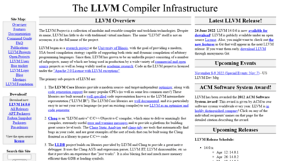 llvm.org - the llvm compiler infrastructure project