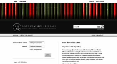 loebclassics.com - home  loeb classical library