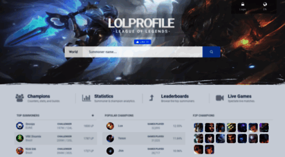 Welcome to Lolprofile net - LoLProfile: League of Legends