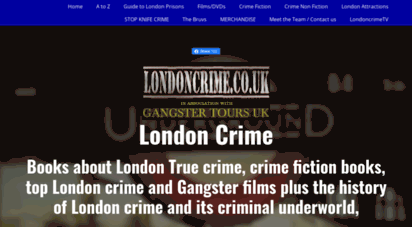 londoncrime.co.uk - london crime gangster books, films, movies, history, tourist attractions, facts