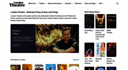 londontheatre.co.uk - london theatre tickets  theatre guides & reviews  londontheatre.co.uk