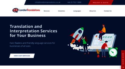 londontranslations.co.uk - london translations - translation & interpretation services