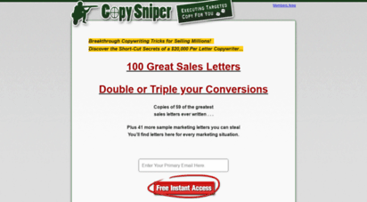 Welcome To Look Copysniper Com Zach Copy Of Copysniper Launch Funnel