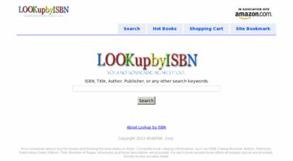 lookupbyisbn.com - lookup by isbn