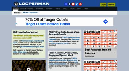 looperman.com - free loops samples acapellas vocals downloads free music