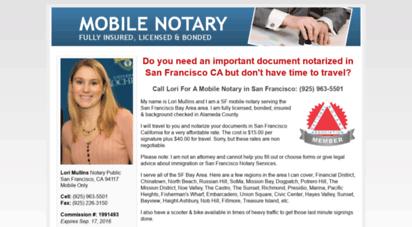lorisfnotary.com - mobile notary public san francisco 24 hours
