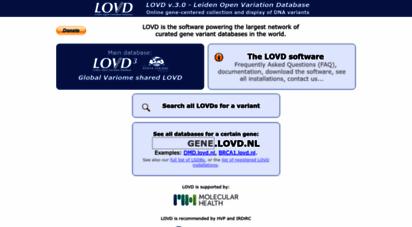 lovd.nl - lovd - an open source dna variation database system
