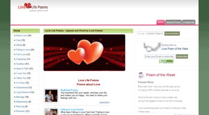 lovelifepoems.net - love life poems - upbeat and positive love poems
