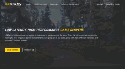 low.ms - dedicated game server hosting and dedicated servers for games such as conan exiles, ark, blackwake, avorion and much more!