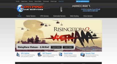 lowpinggameservers.com - game servers lowping network powered by lowpinggameservers