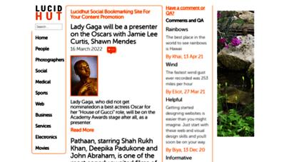 lucidhut.com - lucidhut social bookmarking site for your content promotion