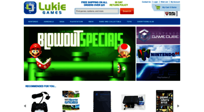 lukiegames.com - buy games and systems  used video games at lukie games