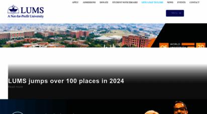 lums.edu.pk - welcome to lums  lums