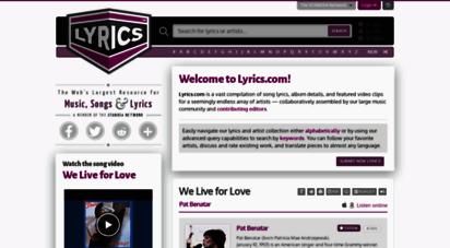 lyrics.com - lyrics.com