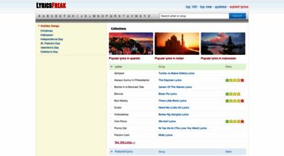 lyricsfreak.com - lyrics, artists, albums  lyricsfreak.com