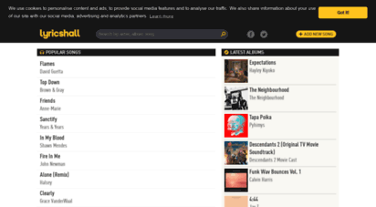 lyricshall.com - discover the latest song lyrics  lyricshall