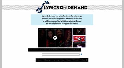 lyricsondemand.com - lyrics on demand - song lyrics, lyrics of songs, free lyrics, free song lyrics, country lyrics, hip hop lyrics, rock lyrics, istian lyrics, music lyrics