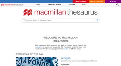 macmillanthesaurus.com - macmillan thesaurus  synonyms, related terms & antonyms