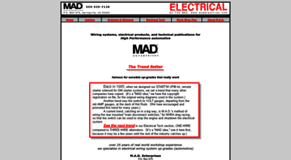 Welcome to Madelectrical.com - MadElectrical.com - Mad Enterprises on