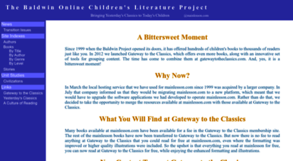 mainlesson.com - the baldwin online children´s literature project...bringing yesterday´s classics to today´s children