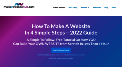 makeawebsitehub.com - how to make a website in 2020 - free easy guide to building a website