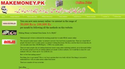 makemoney.pk - make money work from home earn money online business