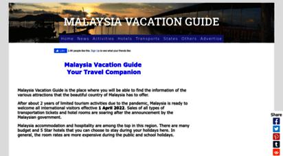 malaysiavacationguide.com - malaysia vacation guide