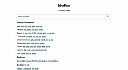 mankier.com - man pages  mankier