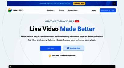 manycam.com - live video software & virtual webcam  manycam