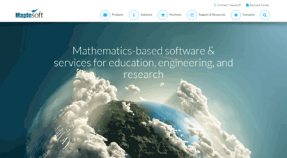 maplesoft.com - maplesoft - software for mathematics, online learning, engineering