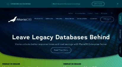 mariadb.com - mariadb enterprise open source database & skysql mariadb cloud  mariadb