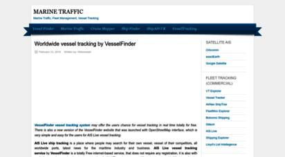 marinetraffic.org - marine traffic - vessel finder - worldwide vessel tracking