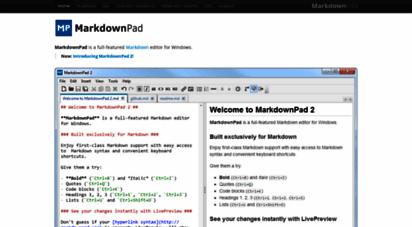 Welcome to Markdownpad com - MarkdownPad - The Markdown Editor for
