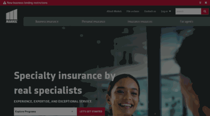 markelinsurance.com - specialty & small business insurance  markel specialty