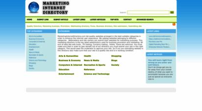 marketinginternetdirectory.com - quality directory, marketing business, promotion, webhosting directory, forex, business directory, site submission, submitting site