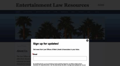 marklitwak.com - mark litwak´s entertainment law resources
