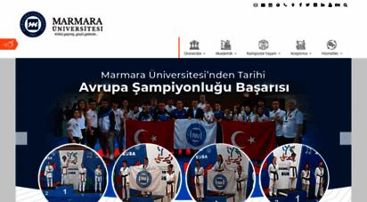 marmara.edu.tr - marmara üniversitesi