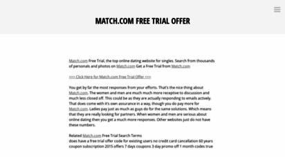 match com trial