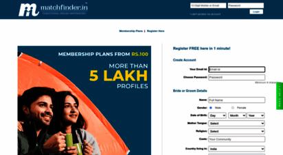 matchfinder.in - matchfinder - matrimony, indian matrimony, online matrimony, marriage website, brides, grooms