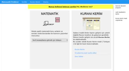 matematikproblemi.com - matematik ve kuranı kerim