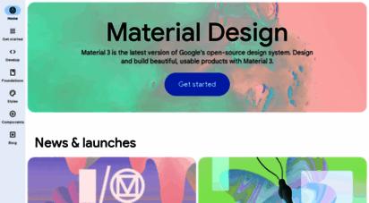 material.io - homepage - material design