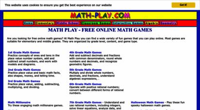 math-play.com - math play - free online math games